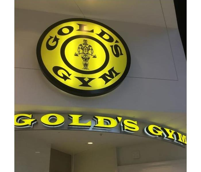 Water Damage at Gold's Gym